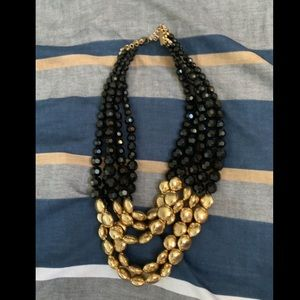 3/$12. Black and gold beaded necklace